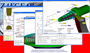 Worm Face gear Direct Digital Simulation software developed for General Motors in 1999.